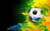 stock photo of brasilia  - illustration of soccer ball in Football background - JPG