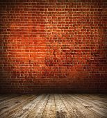 Space of vintage grungy paint black, red, brown brickwall cement background, stone old dark stucco g
