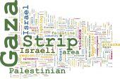 Gaza Strip-Wort-Wolke