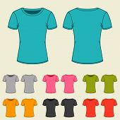pic of t-shirt red  - Set of templates colored t - JPG