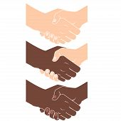 Handshake. Flat style