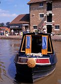 Narrowboat, Stoke Bruerne.