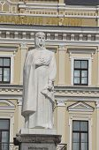 KIEV, UKRAINE -APR 29, 2014:Monument to Princess Olga, St. Apostle Andrew the first-called and equal