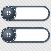 Set Of Two Vector Buttons With Arrows And Quotation Mark