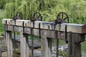 wooden sluice