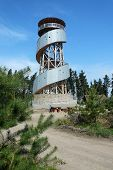 MORAVIAN REGION, CZECH REPUBLIC, APRIL 19, 2014 - The new viewing tower on the hill Kosir