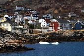Vacation Homes On The Shore Of Brigus Cove Newfoundland Canada