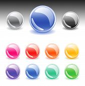Colorful web buttons set. Vector