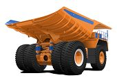 stock photo of hopper  - vector illustration of Dump truck - JPG