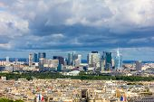 View Of The Modern Business District Of Paris - La Defense From Eiffel Tower