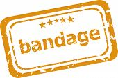 Bandage Word On Rubber Grunge Stamp Isolated On White