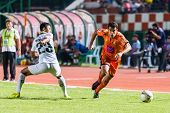 Sisaket Thailand-october 29: Gorka Unda Of Sisaket Fc. In Action During Thai Premier League Between