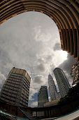 stock photo of petronas towers  - Office at Petronas Twin Towers at Kuala Lumpur Malaysia - JPG