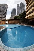 foto of petronas twin towers  - Office at Petronas Twin Towers at Kuala Lumpur Malaysia - JPG