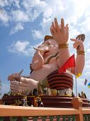 stock photo of ganesh  - Ganesh statue in Nakornnayok province of thailand - JPG