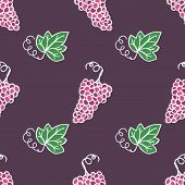 Hand-drawn seamless pattern. Vector illustration.