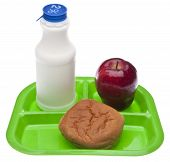 stock photo of school lunch  - Healthy School Lunch Themed Image - JPG