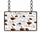 Coffee Texture Signboard
