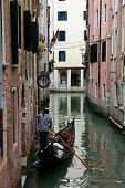 Постер, плакат: Гондольер Венеция Италия