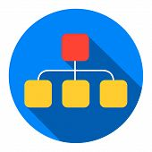 Local Area Network Icon. Flat
