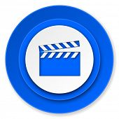 video icon, cinema sign
