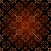 foto of brocade  - Seamless damask ornament of floral elements - JPG