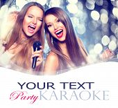 foto of singing  - Karaoke party - JPG