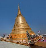 Bangkok, Thailand - Circa November 2013: Prayer In Golden Mount