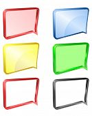 Message or notification vector icon, with background and without, 3d