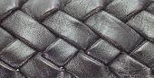 Close - up Black leather belt background
