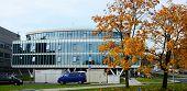 Vilnius City Street, Cars And Danske Bank View