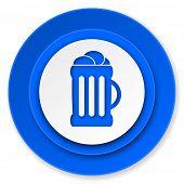 beer icon, mug sign