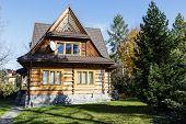 Residential House, Made Of Wood In Zakopane