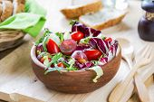 Grape With Radadicchio, Rocket Salad