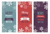 Three Christmas greetings cards for web or print.