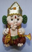 stock photo of pillayar  - A very funny and creative vinayagar god toy made by duster and a cloths - JPG