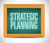 Strategic Planning Sign Illustration Design