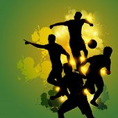Soccer Teamwork Celebration