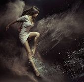 image of fine art portrait  - Fine art photo of a beautiful girl dancing - JPG