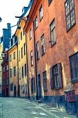 Typical architecture in old town - Stockholm, Sweden