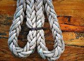 Boat rope tie in.