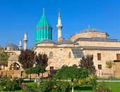 Mevlana museum mosque in Konya. The mausoleum of Jalal ad-Din Muhammad Rumi