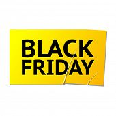 Black friday vector sticker