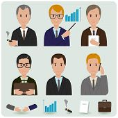 Business men icon set