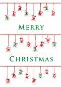 Christmas card with advent calendar