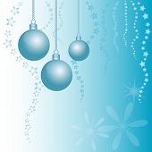 Holiday Card With Balls For Greeting With Happy New Year And Merry Christmas