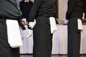 picture of catering  - Professional catering business event waiter ready to service - JPG
