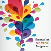 Colorful background with drops, vector.