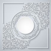 pic of swirly  - Swirly paper decor with shadow on white - JPG