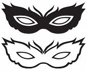 picture of masquerade mask  - Masks for masquerade costumes isolated on white background - JPG